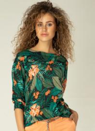 Yest Keisha Jungle Green/Multicolor Top