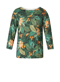 Yest Keisha Jungle Green/Multicolor Top