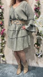 Dyvie Green Flowy Dress