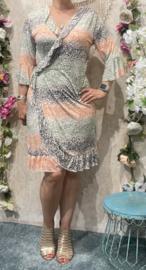 Flowy Multicolor Ruffle Dress