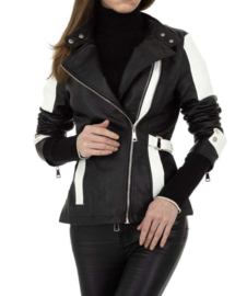 Biker Jacket Black/White