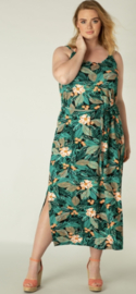 Lenna Jungle Green Multi-Color Dress