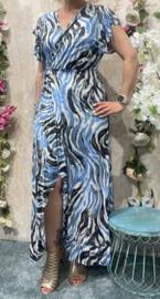 Blue Maxi Dress Overslag