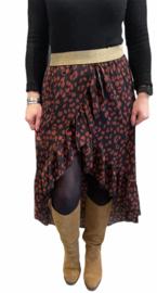 Ruffle Skirt Bordeaux