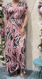 Pink Maxi Dress Overslag