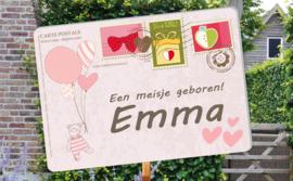 Geboortebord Emma  -  ansichtkaart postkaart postzegels