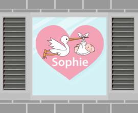 Raamsticker Sophie