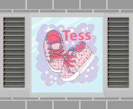 Raamsticker Tess