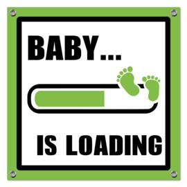 Spandoek Baby Loading groen