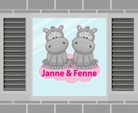 Raamsticker Janne & Fenne