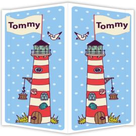 Raambord Tommy - geboortebord raam vuurtoren zeeland
