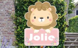 Geboortebord Jolie - schattig leeuwtje