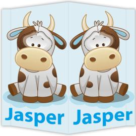 Raambord Jasper - geboortebord raam koetje boerderij
