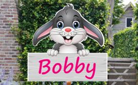 Geboortebord Bobby - konijntje haasje