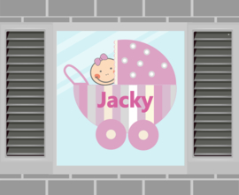 Raamsticker Jacky