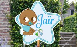 Geboortebord Jaïr  -  voetbal ster