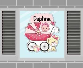 Raamsticker Daphne