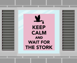 Raamsticker Keep Calm roze