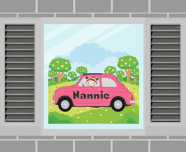 Raamsticker Nannie