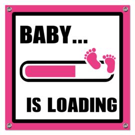 Spandoek Baby Loading roze