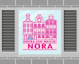 Raamsticker Nora