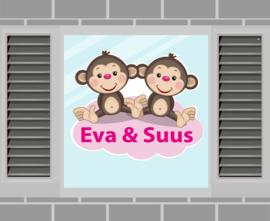 Raamsticker Eva & Suus