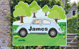 Geboortebord James - volkswagen beatle kever