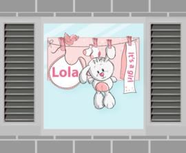 Raamsticker Lola