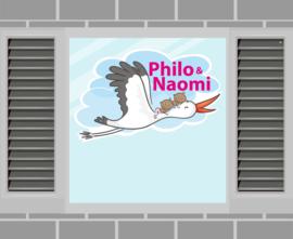 Raamsticker Philo & Naomi