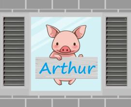 Raamsticker Arthur