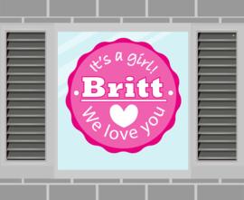 Raamsticker Britt