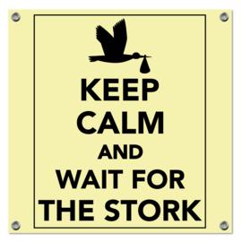 Spandoek Keep Calm geel