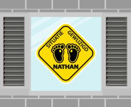 Raamsticker Nathan
