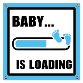 Spandoek Baby Loading blauw