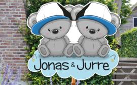 Geboortebord Jonas & Jurre