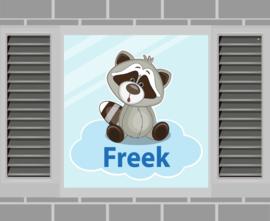 Raamsticker Freek
