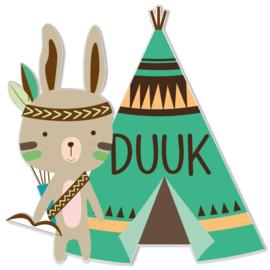 Geboortebord Duuk - indiaantje tipi tent