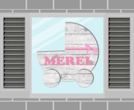 Raamsticker Merel