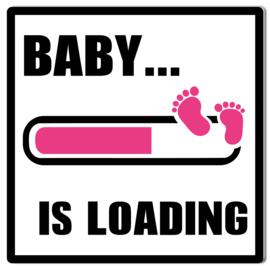 Tuinbord Baby Loading roze