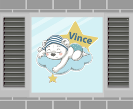Raamsticker Vince