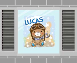 Raamsticker Lucas