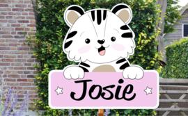 Geboortebord Josie - schattig beertje hoera een meisje!