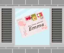 Raamsticker Emma