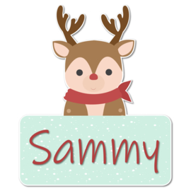 Geboortebord Sammy - rendier winter shawl sneeuw kerst