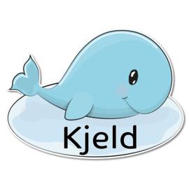 Geboortebord Kjeld - walvisje