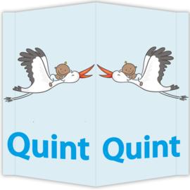 Raambord Quint - geboortebord raam ooievaar