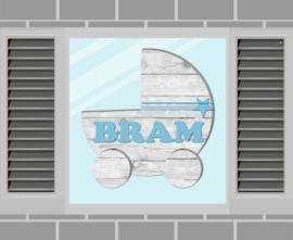 Raamsticker Bram