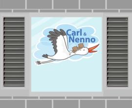 Raamsticker Carl & Nenno