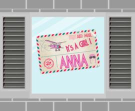 Raamsticker Anna