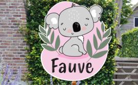 Geboortebord Fauve - Koala